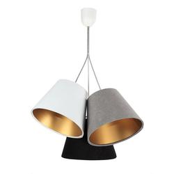 Licht-Erlebnisse Pendelleuchte JOCY Hängeleuchte Esszimmer Grau Schwarz Weiß Gold Wohnzimmer Pendelleuchte Lampe