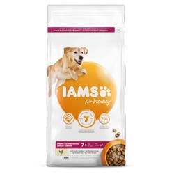 Iams for Vitality Senior Große Rassen Huhn Hundefutter 3 kg AUSVERKAUF
