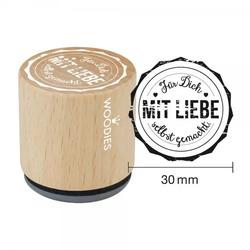 Woodies Stempel - Für Dich mit Liebe selbstgemacht W05001