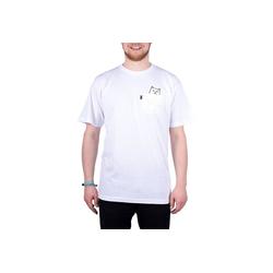 RIPNDIP T-Shirt Lord Nermal Pocket weiß XL