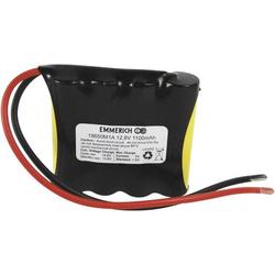 Emmerich LiFePO4-Pack Akkupack 4x 18650 Kabel LiFePO 4 12.8V 1100 mAh