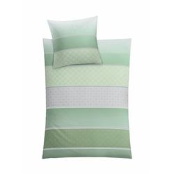 Bettwäsche Decado, Kleine Wolke, in verspielten Streifen grün