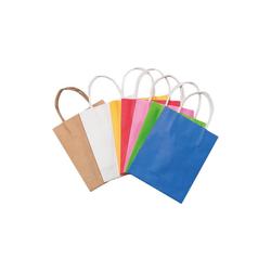 Folia Geschenkpapier Papiertüten 12 x 15 cm farbig, 20 Stück
