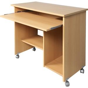 Germania Computertisch auf Laufrollen in Buche-Nachbildung, 0482-11