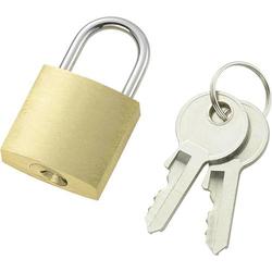 110496 Vorhängeschloss 21mm Messing Schlüsselschloss
