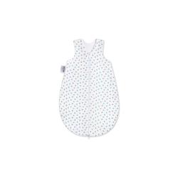 Julius Zoellner Schlafsack Jersey in weiß mit Herzchen in mint und grau