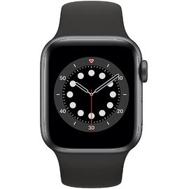 Apple Watch Series 6 GPS + Cellular 40 mm Aluminiumgehäuse space grau, Sportarmband schwarz