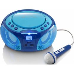 4 Stück Lenco UKW-Radio CD/MP3 tragbar SCD-650 blue