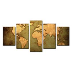 Bilderdepot24 Leinwandbild, Leinwandbild - Weltkarte 100 cm x 50 cm