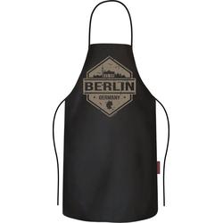 Rahmenlos Grillschürze für den Berlin-Fan schwarz