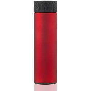 BOHORIA® Premium Vakuum Isolierflasche Thermosflasche 0,5 L aus 18/8 Edelstahl | leicht und kompakt für Kinder, Uni, Schule, Sport (Rubin Red)