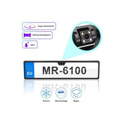 Einfeben 170° IR Einparkhilfe LED Rückfahrkamera kennzeichen Halter Kfz Nachtsicht Autokamera IP67 Nummernschild Kennzeichenhalterung Rückfahrkamera schwarz