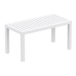 CLP Gartentisch Ocean, robuster Gartentisch wetterfest und UV-beständig weiß