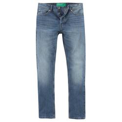 United Colors of Benetton 5-Pocket-Jeans mit Knopfleiste blau 34