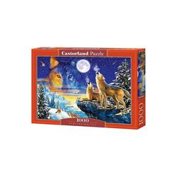 Castorland Puzzle Puzzle 1000 Teile Heulende Wölfe, Puzzleteile