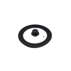 Michelino Topfdeckel Silikon-Glasdeckel passend für Ø 24-26-28 cm, (1-tlg), Glasdeckel
