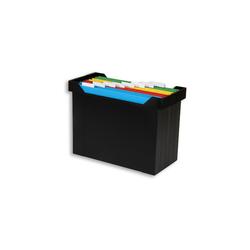 Elba Hängemappenbox Go Set schwarz bis 15 Mappen befüllt mit 8 Mappen