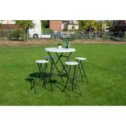 Bartisch Set 5-tgl. Stehtisch Klappbar mit 2 Barhockern Gartenset