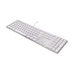 Matias Aluminum Erweiterte USB Tastatur dt. für Mac OS