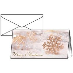 10 SIGEL Weihnachtskarten Winter Passion DIN lang