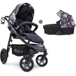 Hauck Kombi-Kinderwagen iPro Saturn R Duoset, wild blooms black, inkl. Babywanne und Beindecke; Kinderwagen