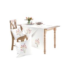 Mitteldecke weiß Mitteldecken Tischwäsche