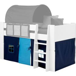 Vorhang FOR KIDS, STEENS, Bindebänder (3 Stück), für die Halbhochbetten blau