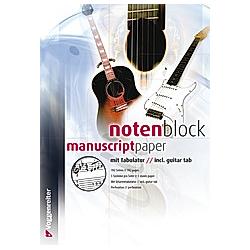 Notenblock mit Tabulatur - Buch