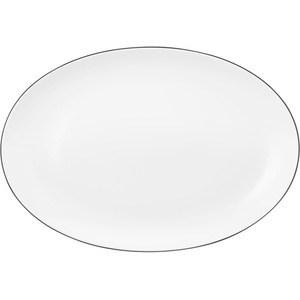 Seltmann Weiden Lido Platte oval 35 cm Black Line