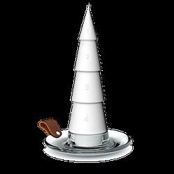 Holmegaard DWL Adventskerze weiß Ø6,5 cm