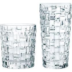 Nachtmann Gläser-Set Bossa Nova, (Set, 12 tlg., Fassungsvermögen: DOF 330ml, LD 395ml-Höhe: 10cm, 15cm-Durchmesser: 9cm, 8,1cm), Kristallglas, (je 6 Whisky- u. Longdrinkgläser) farblos Gläser und Glaswaren SOFORT LIEFERBARE Haushaltswaren