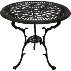 DEGAMO Tisch Jugendstil 70cm rund, Aluguss grau antik