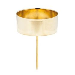 Kerzenhalter, gold, 4 cm Ø, 4 Stück