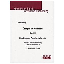 Übungen im Privatrecht. Henry Fiebig  - Buch