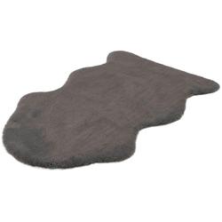 Hochflor-Teppich Cosy Fell 500, LALEE, fellförmig, Höhe 27 mm, Fellform, Wohnzimmer grau 85 cm x 130 cm x 27 mm