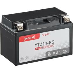 Accurat Sport AGM YTZ10-BS Motorradbatterie 8,6Ah 12V (DIN 50615) ETZ10-BS YTX7A-BS