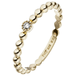 JOBO Diamantring, 585 Gold mit Diamant 0,02 ct. 58
