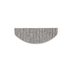 Stufenmatte Rom, Kubus, Halbrund, Höhe 4 mm grau Halbrund - 19 cm x 56 cm x 4 mm