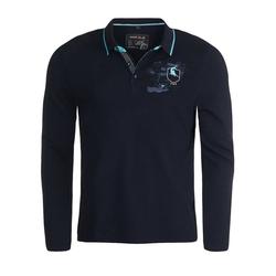 MARVELIS Longsleeve Poloshirt - Longsleeve - Uni blau 3XL