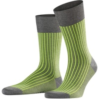 Falke Socken Oxford Stripe - Baumwollmischung, 1 Paar, Grau
