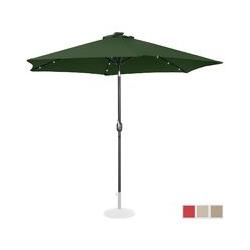 Sonnenschirm mit LED UNI_UMBRELLA_TR300GRL Gartenschirm (rund, Ø 300 cm, neigbar, grün) - Uniprodo