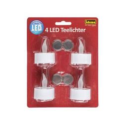 4 LED Teelichter, inkl. Batterien