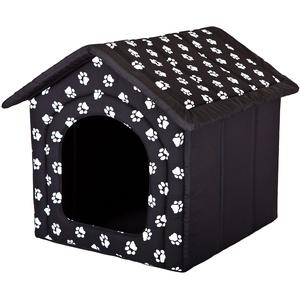 Hobbydog R5 BUDCWL2 Hundehöhle Größe R5-70 X 60 X 63 cm Schwarz Mit Pfötchen Bett Betten, XL, Black, 2 kg