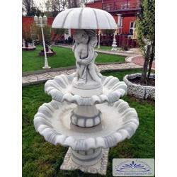 SA-N9 Gartenbrunnen Schirmbrunnen mit Kinder und Schirm mit 2 Brunnenschalen 190cm 495kg