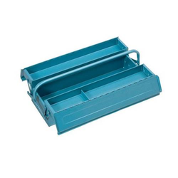 ELORA Werkzeugkoffer Werkzeugkiste Kiste Blech blau 3tlg. leer 530*195*150mm