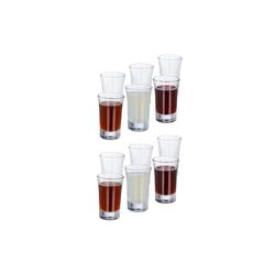 relaxdays Schnapsglas Schnapsgläser 4cl im 12er Set, Glas