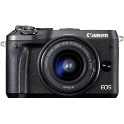 Canon EOS M6 Systemkamera EF-M 15-45mm IS STM 24.2 Megapixel Schwarz WiFi, Bluetooth, Full HD Video