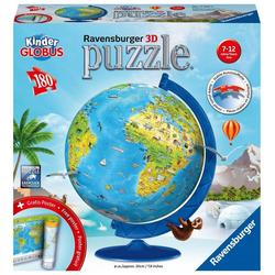 Ravensburger Puzzle Kinderglobus in deutscher Sprache. Puzzleball..., Puzzleteile