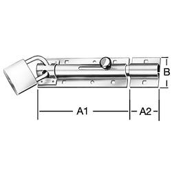 Bolzen-Schlieriegel   130x43,5x2,2mm