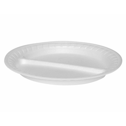 Thermoteller 2-geteilt, weiß Ø 22,5 cm, 100 Stk.